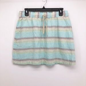 PATAGONIA Hemp & Organic Cotton Striped Skirt